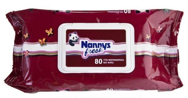 ΜΩΡΟΜΑΝΤΗΛΟ NANNYS FRESH 80 TΕMΑΧΙΩΝ EASY OPEN