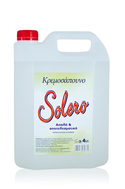 Κρεμοσάπουνο SOLERO Λευκό 4 Λίτρα